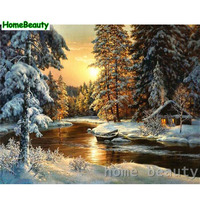 Diy Digital Oil Painting Calligraphy By Numbers Acrylic Coloring Picture By Number Wall Canvas Drawing Snow
