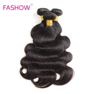 Image 4 - Brazylijski ciało fala 100% ludzkie włosy tkania 1 sztuka tylko Fashow włosów wiązki włosy inne niż Remy 10 12 14 16 18 20 22 24 26 28 cal