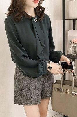 2019 printemps automne 4XL chemise dames Blouse femmes offre spéciale Plus les tailles Blouse chemises Blouse décontractée manches longues bureau haut - 4