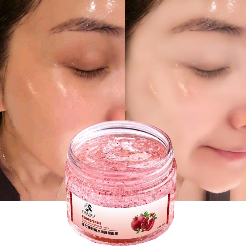 ESEENLO Punainen granaattiomena nukkuva naamio Kasvohoito Valkaisu Dark Spot Remover kasvojen naamio Anti-Wrinkle ikääntyminen Ihonhoito Face Mask