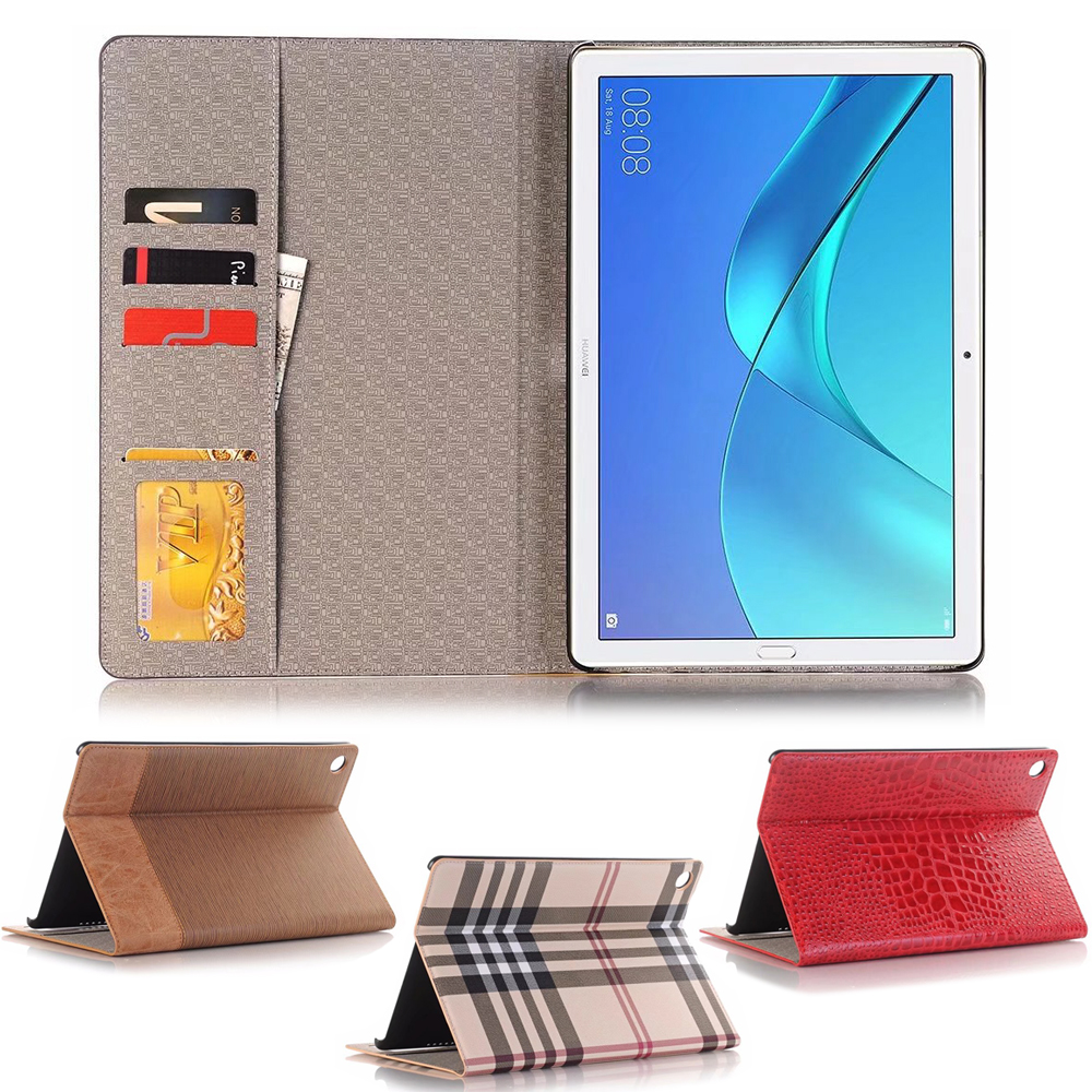 Business Leather Case For Huawei Mediapad M5 10.8 CMR-AL09 CMR-W09 / M5 10 Pro Tablet Support Stand Cover With Card Solt + Gift