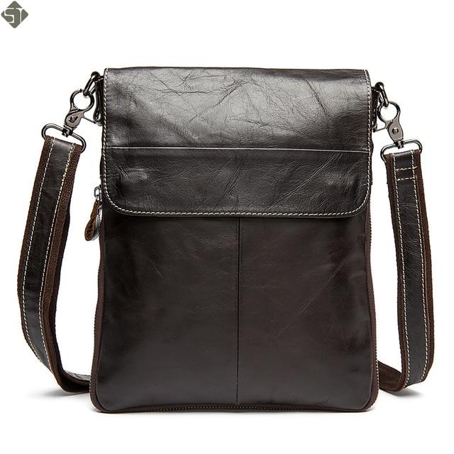 7e881e1f26 100% Genuine Leather men bags men s briefcase vintage men Messenger bag  Shoulder Bag Ipad shoulder coffer cowhide leather bags