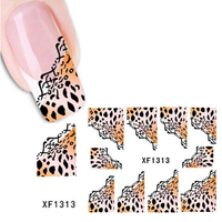 Fashion Half Wraps French Manicure Water Transfer Stickers For Women DIY Nail Art Decals