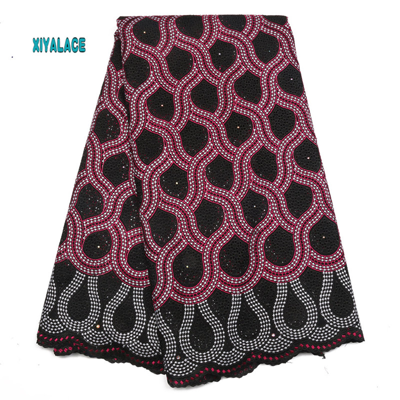 African Lace Fabrics 2019 Nigerian Swiss Voile Lace High Quality French Swiss Voile Lace Switzerland For Wedding Women YA2049B-2