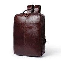 Для мужчин рюкзак из натуральной кожи многофункциональная Сумочка мужской рюкзак для ноутбука для подростков Повседневное большая дорожн