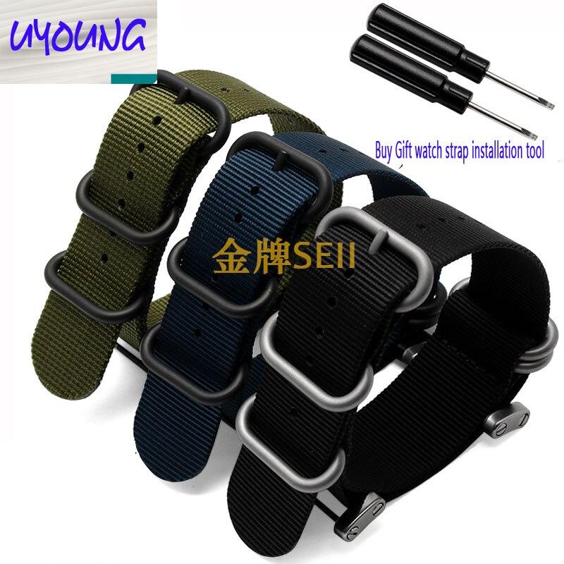 vroča prodaja modne nato dolge Suunto Core Nylon trak komplet z vrvicami adapterji 24 mm Zulu Watchbands najlon pametna zapestnica za moške