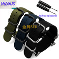 hot sale fashion nato long Suunto Core Nylon Strap Band Kit w Lugs Adapters 24mm Zulu Watchbands nylon smart bracelet for men