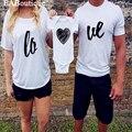 EABoutique Американский стиль письма любовь семьи сопоставления одежда пара рубашки семья майка розничная