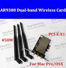 AR5BXB112 AR9380 PCI-E 1X Wireless Desktop WiFi WLAN Card 450M Dual-band (2.4/5 GHz) for MACPRO /OSX