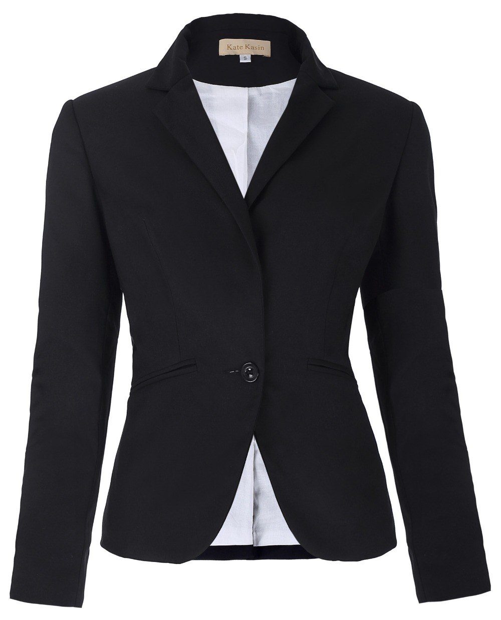 Fashion Women Blazer Coat Black Casual Womens Basic Jacket -6462