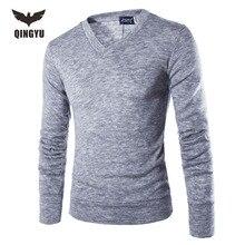 Pull Homme 2016V-Neck Pullover Stilvolle Gestrickte Lange Ärmel Männer Pullover Männlich Solide Bodenbildung Pullover Pullover 7 Farben