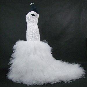 Image 3 - QQ Lover 2020 جديد قبالة الكتف حورية البحر فستان الزفاف مخصص حجم كبير العروس ثوب زفاف أفريقي