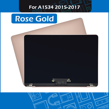 """Rose Gold Laptop Complete Display Assembly for Macbook Retina 12"""" A1534 LCD Screen Assembly 2015 2016 2017"""