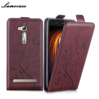 Lamocase Embossing PU Leather Case For Asus ZenFone Go ZB500KL 5 0 Inch Flip Cover For