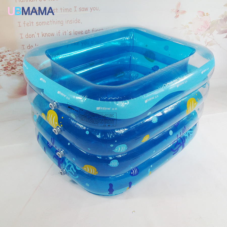 4th Floor Insulation Inflatable Square Plastic Safety Bottom Inflatable  Newborns Baby Tub Swimming Pool 115*100*68cm