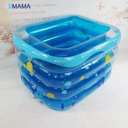 4th floor Isolatie opblaasbare Vierkante Plastic Veiligheid Bodem opblaasbare Pasgeborenen Baby bad zwembad 115*100*68 cm