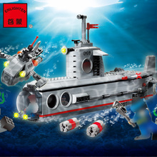 ENLIGHTEN 816 Building Blocks Military Submarine Deep Sea Model Adventure Figure  Compatible Brick Toys For Children qunlong 649pcs my world volcanic detection minecrafted model figures building blocks enlighten diy brick toys for children 0523