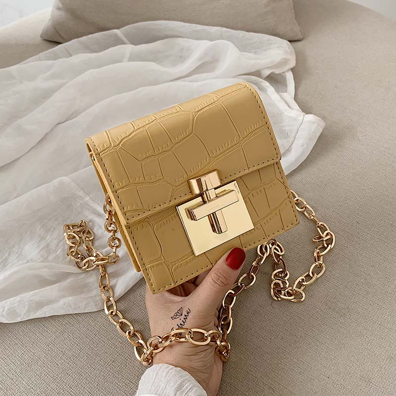 Stone Pattern MINI Crossbody Bags For Women 2020 Lock Messenger Shoulder Bag Lady Lipstick Handbags And Purses