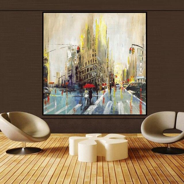 vele grootte landschap abstract art schilderijen muur olieverf woninginrichting ingelijste canvas schilderij voor slaapkamer woonkamer
