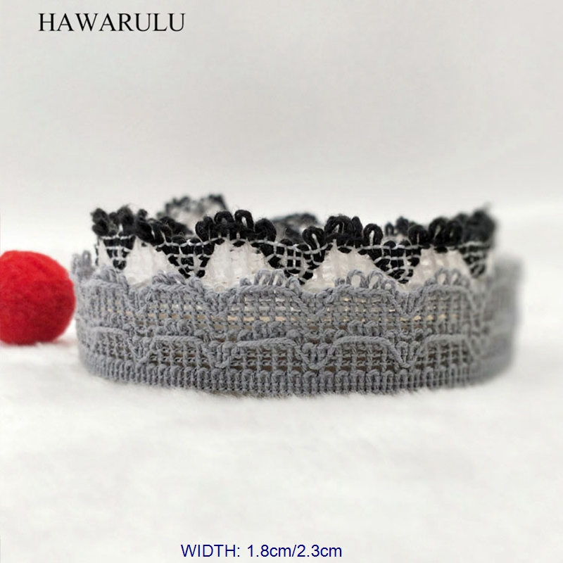 HAWARULU 2yard handmade DIY cotton clothing Lace accessories diy sofa curtain material Christmas Hallowmas wedding