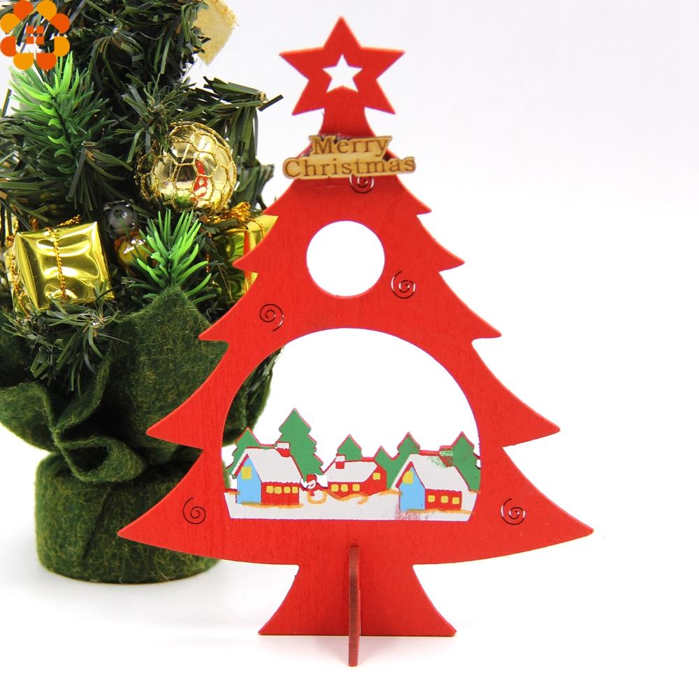 Decorador de arboles de navidad 187 home design 2017 - 2 Unids De Navidad Decoraci N Para El Hogar Diy De Madera Del Rbol De Navidad Decoraci N