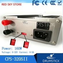 GOPHERT Новый CPS-3205 II CPS-3205II 160 Вт (110Vac/220Vac) 0-32 В/0-5A, компактные цифровые Регулируемый DC Питание