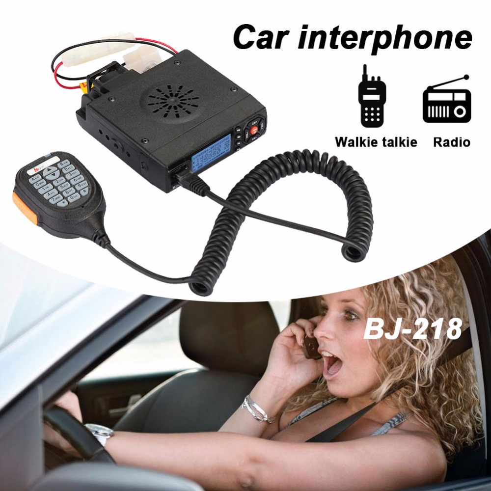 VEHEMO BJ-218 Dual Band 2 Way Mobile Radio Transceiver 12V 25W 200CH Long Range Car Walkie Talkie Interphone Vehicle Ham Radio fjx tc 3000 fm 2 way radio walkie talkie transceiver intercom