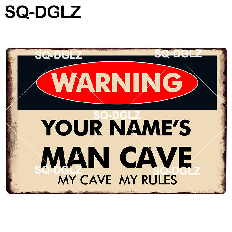 Metal Plate Sign Don't Touch My Daughter or Tools Cave Tin Home Gate Decor Warn