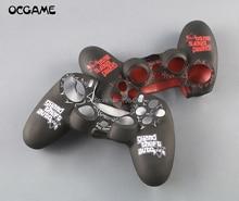 OCGAME Trò Chơi Hoa Văn Da Silicone Dành Cho PS4 Pro Slim Bộ Điều Khiển Ốp Bảo Vệ Cho Sony PlayStation 4