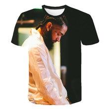 Hot Rapper nipsey hussle Print Short T shirt Men/Women Harajuku Hip Hop Sleeve Cool Streetwear
