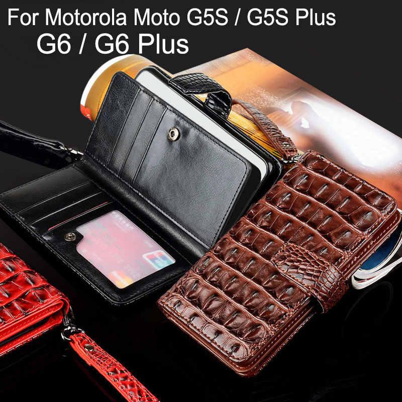 Для Motorola Moto G5S Plus, роскошный чехол из крокодиловой змеиной кожи, флип, Бизнес Стиль, чехлы-портмоне, для Motorola Moto G6, плюс Чехол