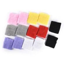 1pair 100% Cotton Gym Wrist Guard Tower Wristband Tennis/Basketball/Badminton Wrist Support Sports Protector Sweatband 8* 10cm
