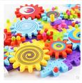 large particles assembled plastic gear assembly building children's educational