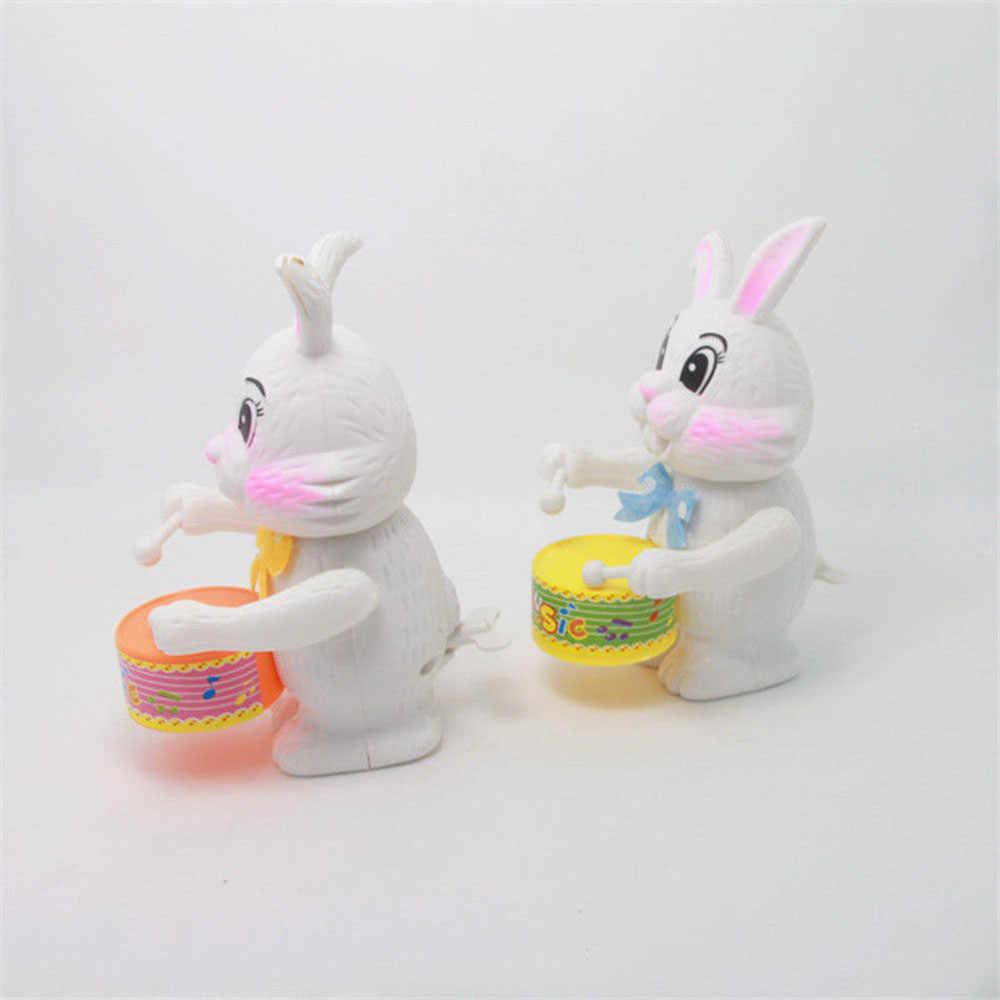 Смешной милый мягкий чехол 1 шт. для маленьких девочек кролик Ming игрушечный часовой механизм с заводом развивающие игрушки подарок кролик из мультфильма барабан игрушка