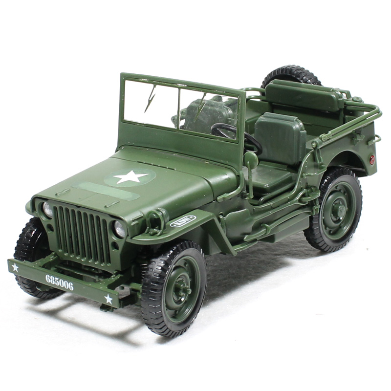 Alloy Diecast 1:18 For Jeep Military Tactics Car Model Opening Hood Panels To Reveal The Engine For Children Gift Toys willys jeep 1 10