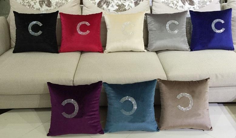 Custom <font><b>Cushion</b></font> Customized Pillow <font><b>Home</b></font> Decor Crystal Diamond Pillows Throw Velvet <font><b>Cushion</b></font> House Decoration Decorative Fabric