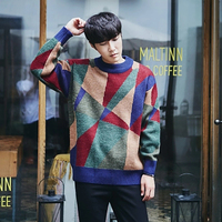 Fashion Casual Knitted Men Sweater Warm Wool Retro Pullover Men Korean Style Sweater Trendy Fall Wood Sweaters Men Turtleneck