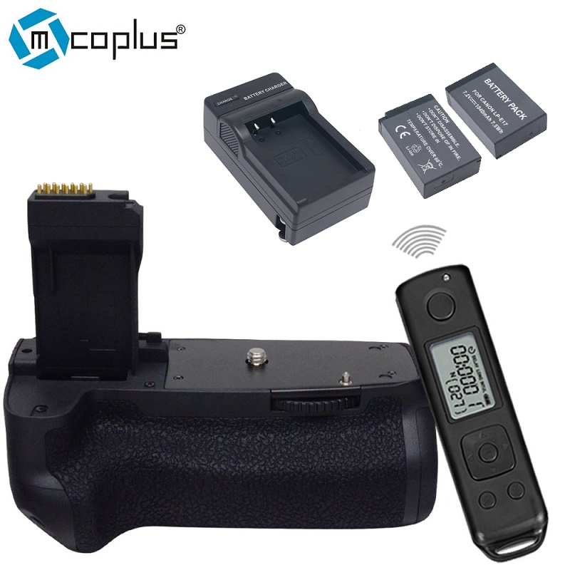 bilder für Mcoplus BG-760DR Vertikale Batteriegriff + 2 stücke LP-E17 batterien und 1 stücke ladegerät für Canon EOS 750D 760D Rebel T6i T6s als BG-E18