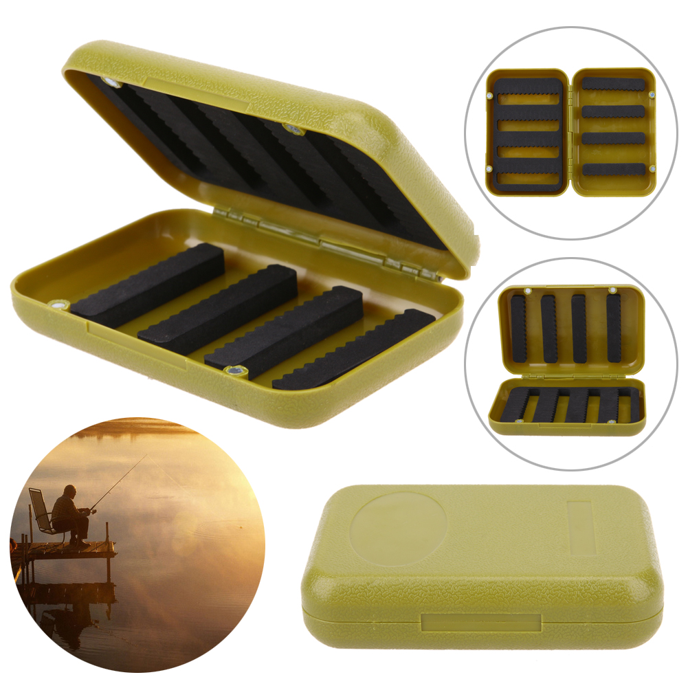 Durable ABS Plastic Foam Fly Fishing Tackle Lure Bait Hook Storage Case Cover Box Waterproof Fish accessories Green abs pp material fishing tackle box fish lure storage case with 15 compartments