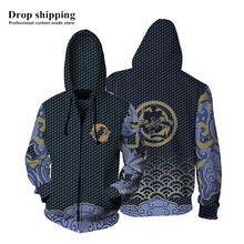 Anime/Game Clothes 3D Printed Shimada Hanzo Hoodies Sweatshirts For Men Casual Outerwear Long sleeve Loose Hooded Zipper Jackets