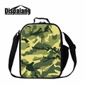 Dispalang customized insulated lunch bags for children camo pattern lunch containers portable lunchbox for office picnic bag