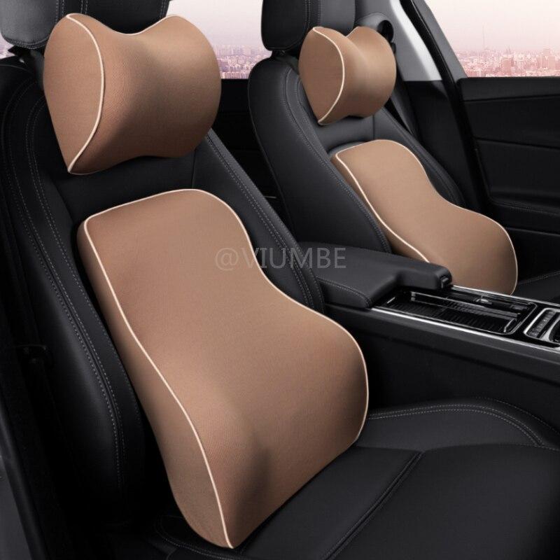 1 PCS 2019 car pillow soft memory foam neck headrest lumbar support back massager waist cushion pillows for car seat chairs