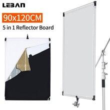 90x120 cm Zon Scrim Aluminium Frame met Grote 5in1 Zwart Zilver Goud Wit Diffuser Reflector voor Professionele fotografie