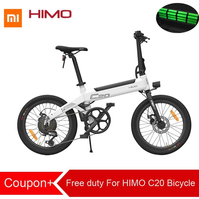 Duty Free Para Xiaomi HIMO C20 Dobrável Ciclomotor Bicicleta Elétrica 250W Motor 25 km/hcapacity 100kg para adultos e adolescentes lightweig