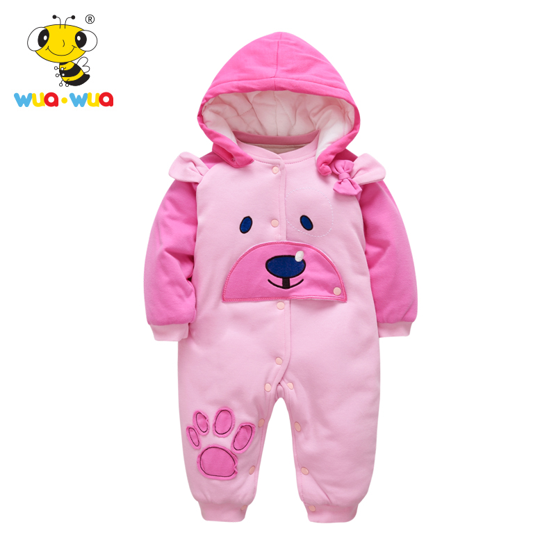 Wua Wua 59-90cm Baby Girls Boys Jumpsuits Cute Cotton Long Sleeve Newborn Baby Romper Infant One Piece Baby Body Suits Clothes puseky 2017 infant romper baby boys girls jumpsuit newborn bebe clothing hooded toddler baby clothes cute panda romper costumes