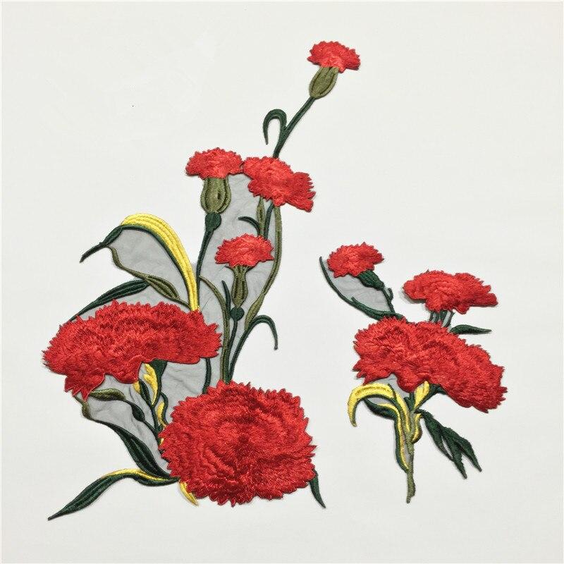 2 sady šití na vyšívací náplast Vyšívané květinové nášivky na oděvní balíčky Bordados Ropa Šicí příslušenství AC0655