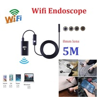 5M Wifi Endoscope Camera iphone Android 720P Borescope Camera 8mm lens mini Endoscope Softwire with 8pcs led
