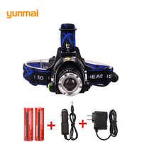 Best Brightest Waterproof 4000 Lumen Cree Xm L2 Led Headlamp Rechargeable Head Lamp Led Light For