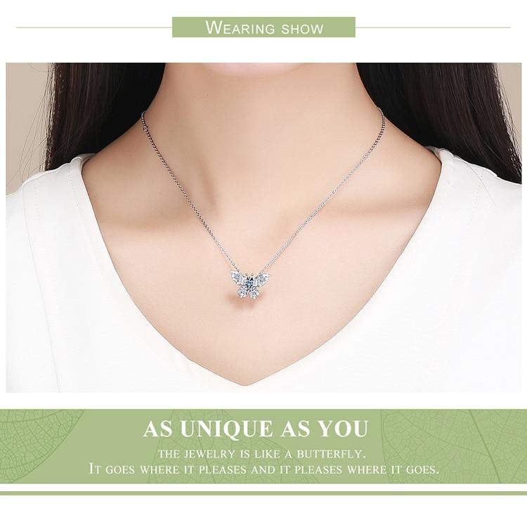 HTB1GjgkJwHqK1RjSZJnq6zNLpXab BAMOER 100% 925 Sterling Silver Crystal Blue Zircon Butterfly Beads fit Charm Bracelets Women Necklaces Silver Jewelry BSC061