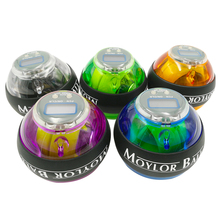 MOYLOR Force Hand Ball Gyro Power Wrist Arm Exerciser Strengthener LED with Speed Meter Counter 12000 RPMS Gyroscope F